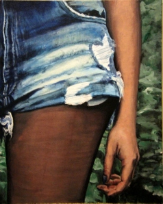 """Hilda Darling"" Oil on canvas board Current work by former student Annalise Copenhaver, now college-bound."